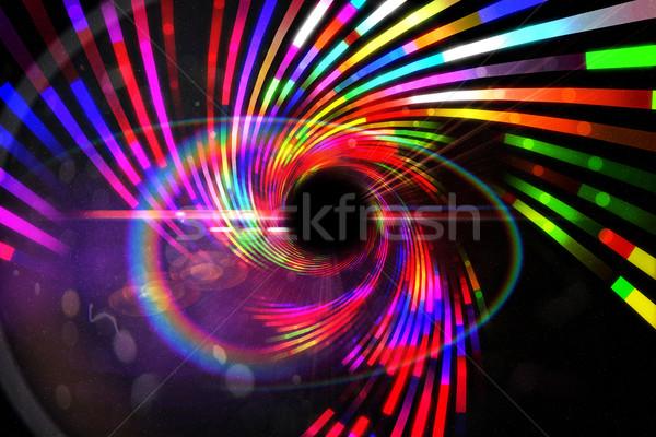 Digitalmente generado láser fresco colores fiesta Foto stock © wavebreak_media