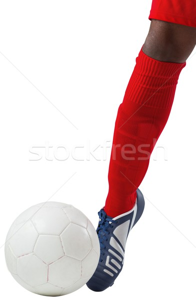 Futballista rúg labda csizma fehér futball Stock fotó © wavebreak_media