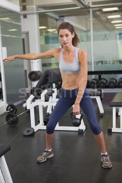 フィット 女性 ケトルベル ジム スポーツ ストックフォト © wavebreak_media