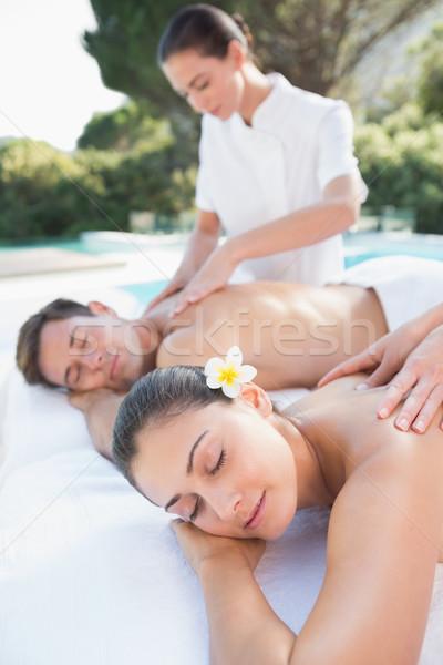 Attrattivo Coppia coppie massaggio fuori Foto d'archivio © wavebreak_media
