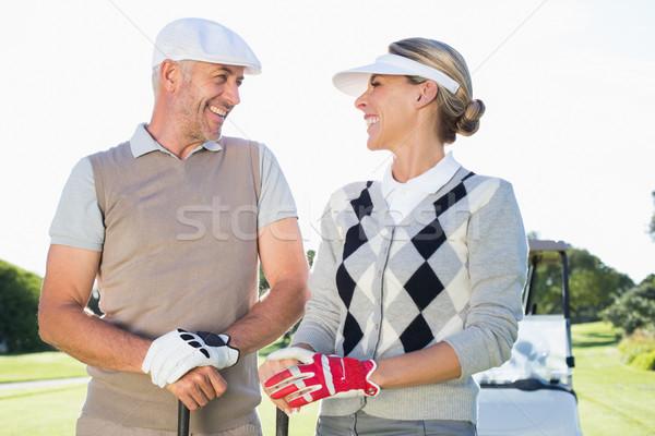 Mutlu golf çift karşı diğer golf Stok fotoğraf © wavebreak_media