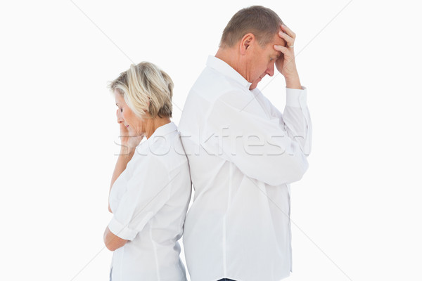 Upset couple not talking to each other after fight Stock photo © wavebreak_media