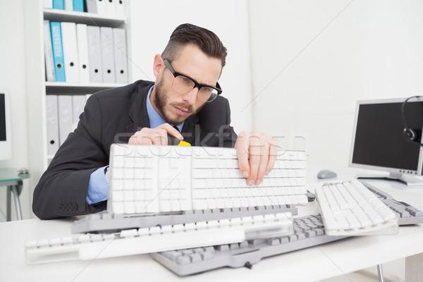 техник клавиатура винта драйвера служба Сток-фото © wavebreak_media