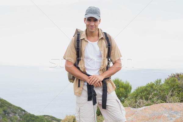 Randonnée homme marche montagne terrain portrait Photo stock © wavebreak_media