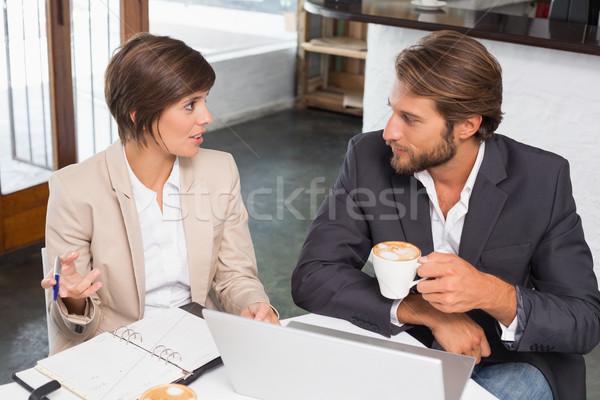 Business Kollegen arbeiten Pause Cafeteria Kaffee Stock foto © wavebreak_media