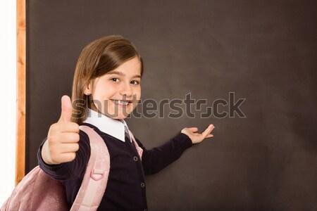 Cute uśmiechnięty kamery czarny szkoły szczęśliwy Zdjęcia stock © wavebreak_media