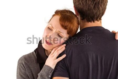 Scared woman holding onto man Stock photo © wavebreak_media