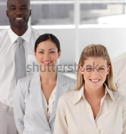 Feliz pessoas de negócios escritório retrato jovem Foto stock © wavebreak_media