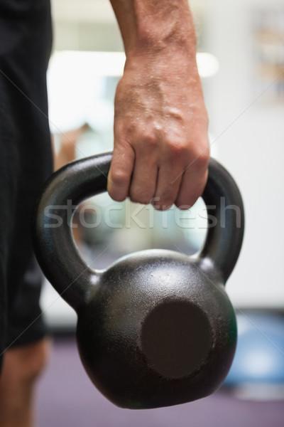 Uomo bollitore campana palestra Foto d'archivio © wavebreak_media
