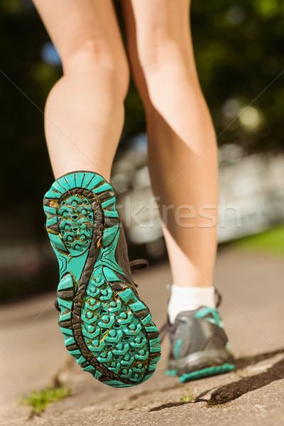 Nő futócipők út napos idő test egészség Stock fotó © wavebreak_media