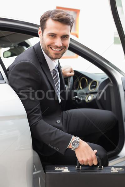 бизнесмен из парадная дверь автомобилей бизнеса дороги Сток-фото © wavebreak_media