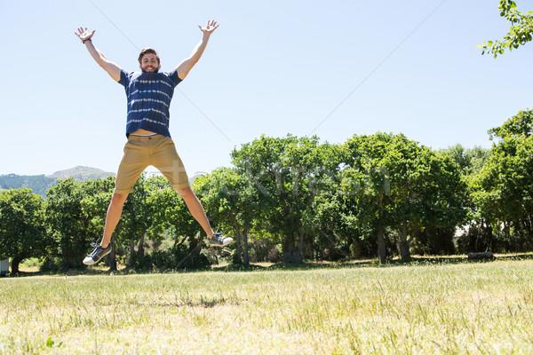 Przystojny uczucie wolna parku człowiek Zdjęcia stock © wavebreak_media