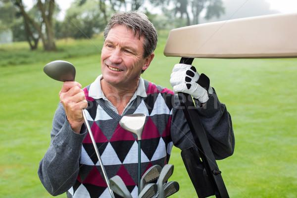 счастливым гольфист гольф гольф Сток-фото © wavebreak_media
