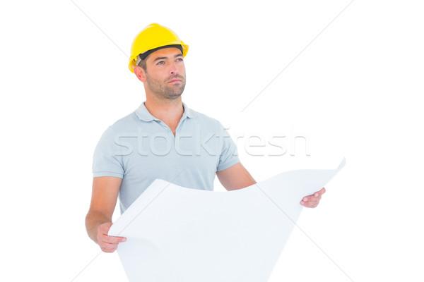мужчины архитектора план белый Сток-фото © wavebreak_media