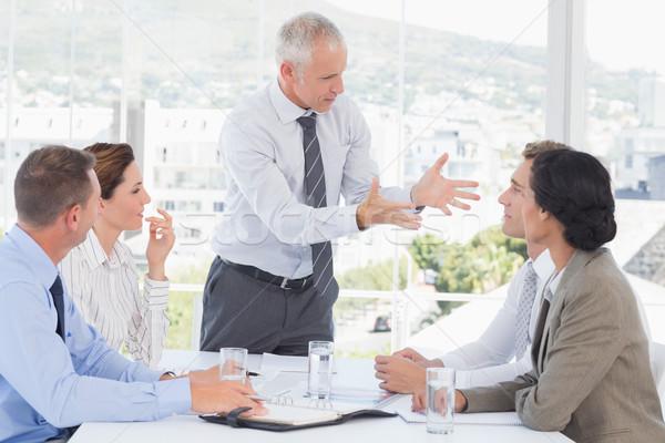 Businessman yelling at his team Stock photo © wavebreak_media