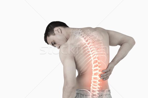 Omurga adam sırt ağrısı dijital bileşik vücut arka plan Stok fotoğraf © wavebreak_media