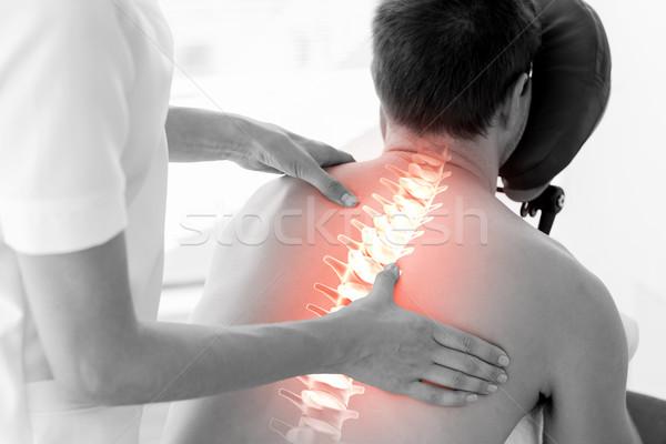 Kręgosłup człowiek fizjoterapia digital composite kobieta ciało Zdjęcia stock © wavebreak_media