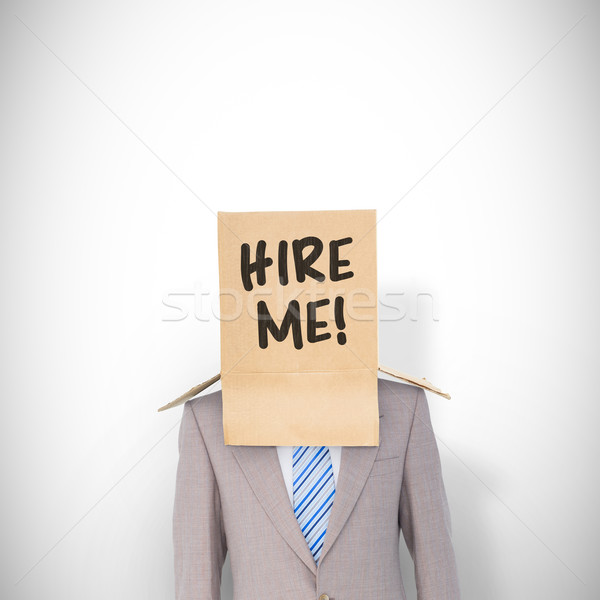 összetett kép anonim üzletember fehér öltöny Stock fotó © wavebreak_media