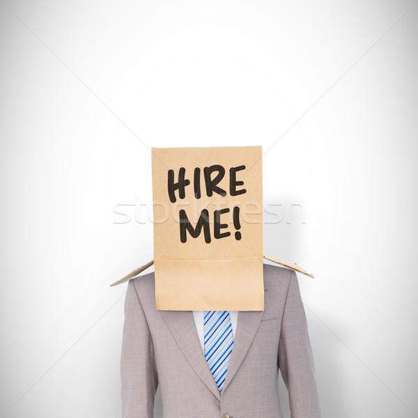 Imagen anónimo empresario blanco traje Foto stock © wavebreak_media