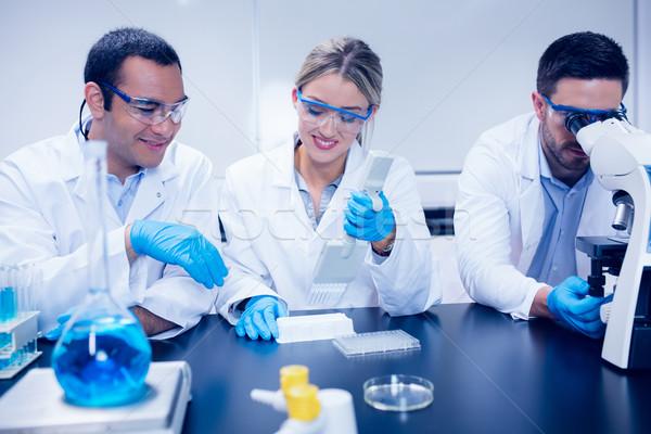 ストックフォト: 科学 · 学生 · ラボ · 大学 · 学校