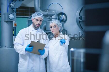 étel mosolyog kamera technológia ipar gyár Stock fotó © wavebreak_media