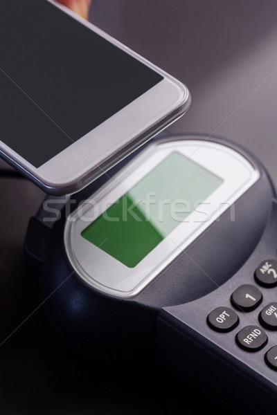 Homme smartphone express gris affaires Photo stock © wavebreak_media