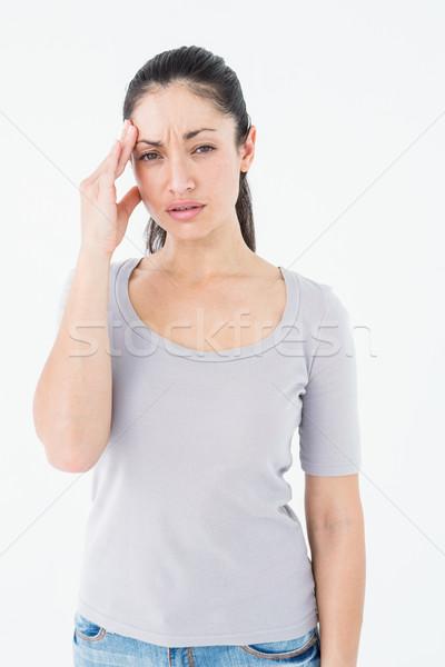 брюнетка страдание мигрень белый женщину здоровья Сток-фото © wavebreak_media
