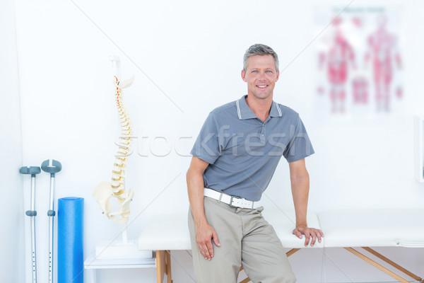 医師 笑みを浮かべて カメラ 医療 オフィス 健康 ストックフォト © wavebreak_media