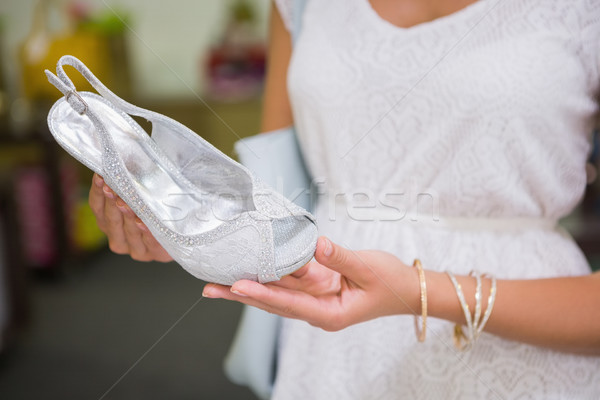 Vrouw naar sandalen schoen winkel winkelen Stockfoto © wavebreak_media