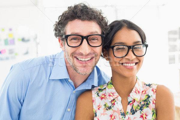Portrait of smiling coworkers with glasses Stock photo © wavebreak_media