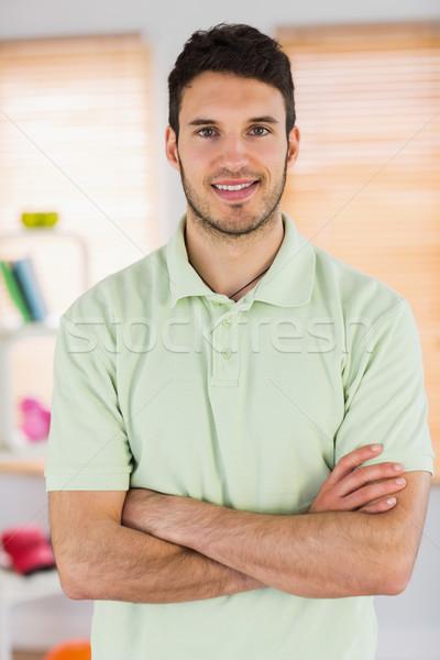 肖像 笑みを浮かべて ハンサム マッサージ師 スタジオ ストックフォト © wavebreak_media