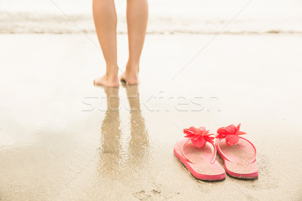 Woman paddling in the sea Stock photo © wavebreak_media