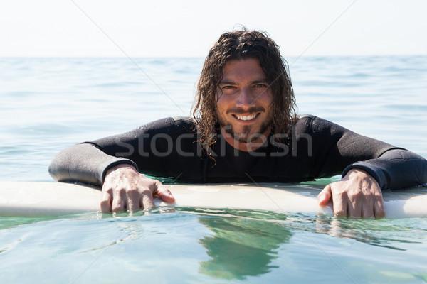 Sörfçü sörf deniz portre gülen Stok fotoğraf © wavebreak_media
