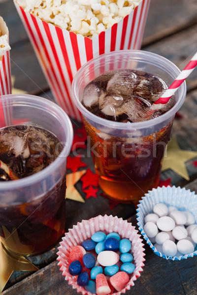 попкорн кондитерские изделия пить продовольствие Сток-фото © wavebreak_media