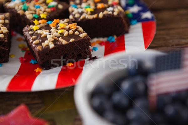 Pastries served on plate with 4th July theme Stock photo © wavebreak_media