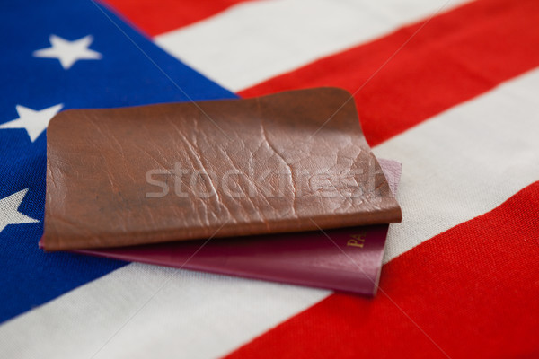 Passeport visa drapeau américain sécurité bleu Photo stock © wavebreak_media