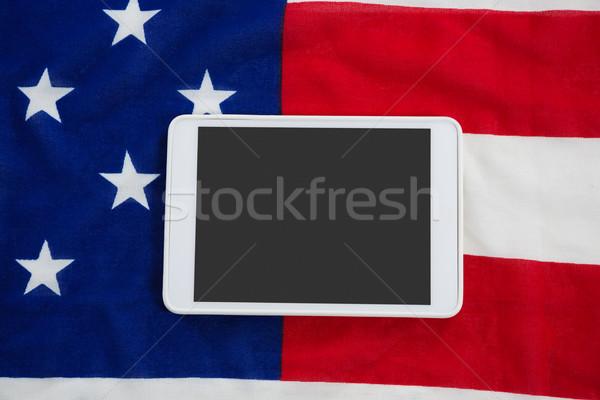 Cyfrowe tabletka amerykańską flagę internetowych niebieski Zdjęcia stock © wavebreak_media