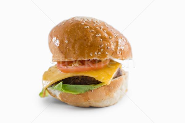 Cheeseburger branco folha sorridente Foto stock © wavebreak_media