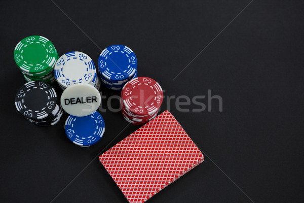 View carte chip tavola casino Foto d'archivio © wavebreak_media