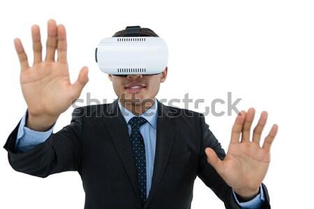 бизнесмен костюм очки белый человека Сток-фото © wavebreak_media