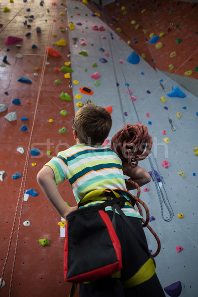 мальчика Постоянный веревку фитнес студию Сток-фото © wavebreak_media