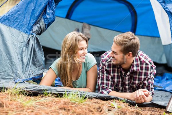Młodych dość turysta para namiot charakter Zdjęcia stock © wavebreak_media
