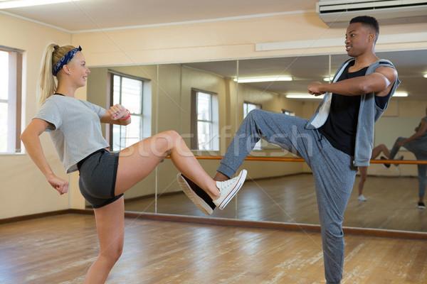друзей Dance зеркало полу Сток-фото © wavebreak_media