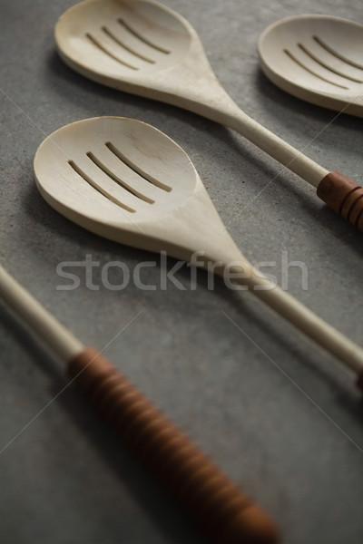 Spatulas arranged side by side Stock photo © wavebreak_media