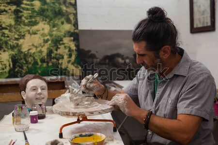 Férfi nő cserépedények boldog művészet oktatás Stock fotó © wavebreak_media