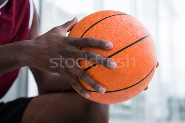 Player holding basketball Stock photo © wavebreak_media