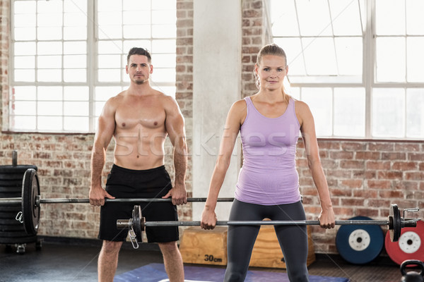 Two fit people working out  Stock photo © wavebreak_media