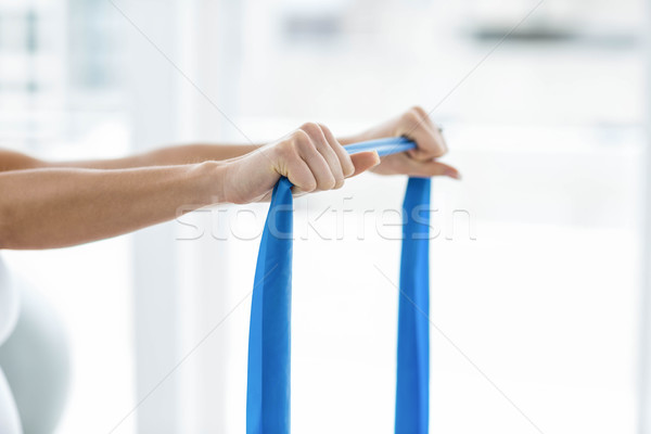 Pregnant woman performing stretching exercise Stock photo © wavebreak_media