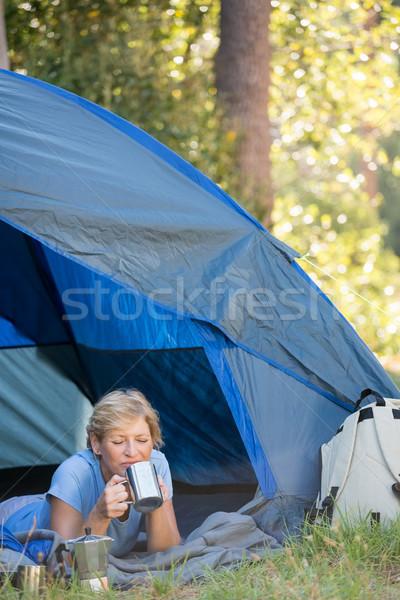 питьевой кружка лагерь Сток-фото © wavebreak_media