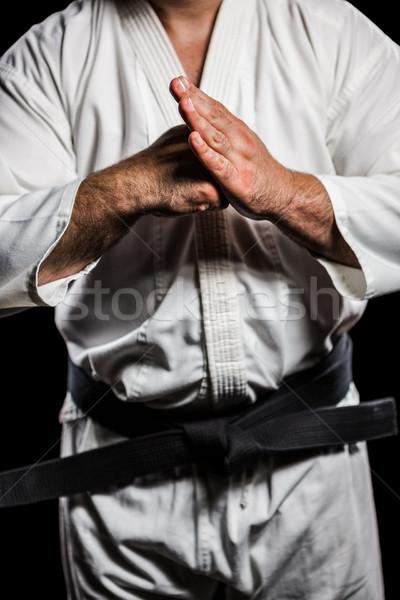 Lutador mão homem fitness treinamento Foto stock © wavebreak_media